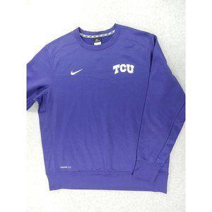 TCU Horned Frogs Nike BIG 12 Therma Fit Sweatshirt